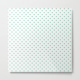 Dots (Mint/White) Metal Print