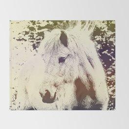 Colored Pony Throw Blanket