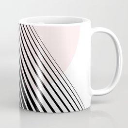 Rising Sun Minimal Japanese Abstract White Black Blush Pink Coffee Mug