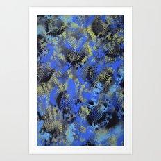 Blue Black Art Print