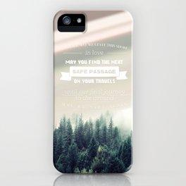 Traveler's Blessing iPhone Case