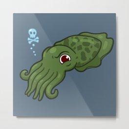 Cuttlefish - Cthulu Edition Metal Print