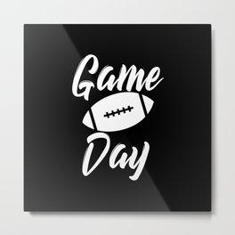 Game Day Football Metal Print