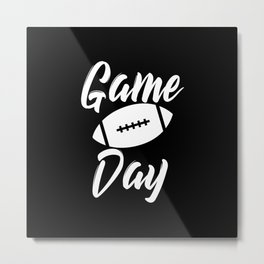 Game Day Football Metal Print