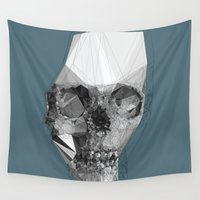 deathly hallows Wall Tapestries featuring Out of yourself  by PandaGunda