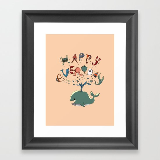 Happy Everyday Framed Art Print