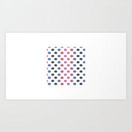 Dots, Dots Art, Colorful Dots, Color Art Art Print