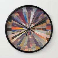 vertigo Wall Clocks featuring Vertigo by Whitney Bolin