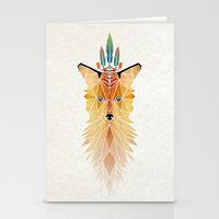 spirit Stationery Cards featuring fox spirit  by Manoou