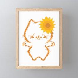 Flower Breed Feline Purr Claws Arrogant Collection Dope Pet Meow Cat T-shirt Design Animal Purr Framed Mini Art Print