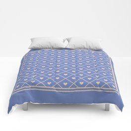 Never Far Away (colors: deep dusk) Comforters