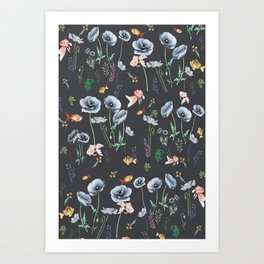 Fishes & Garden Art Print