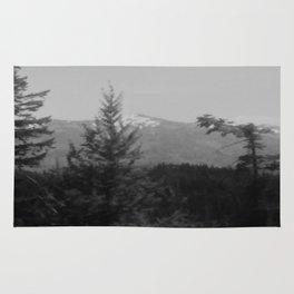Snow Cap Mountain black and white Rug