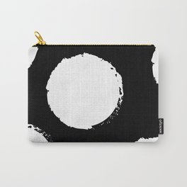 White circles Carry-All Pouch