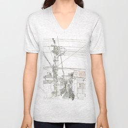 Beijing.China.Xintaicang  hutong 新太仓胡同 Unisex V-Neck