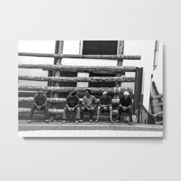 Workers in spare time Metal Print