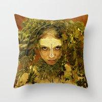 pagan Throw Pillows featuring Pagan by Charlie Terrell