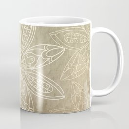 Flower pattern brown Coffee Mug