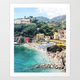 Cinque Terre Monterosso overlook Art Print