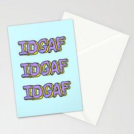 IDGAF Violet Donuts Stationery Cards