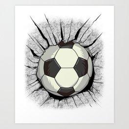 World Football Wall Breakout Cup Shirt Jersey Gift Art Print