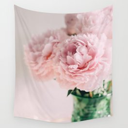 Blush Peonies Wall Tapestry