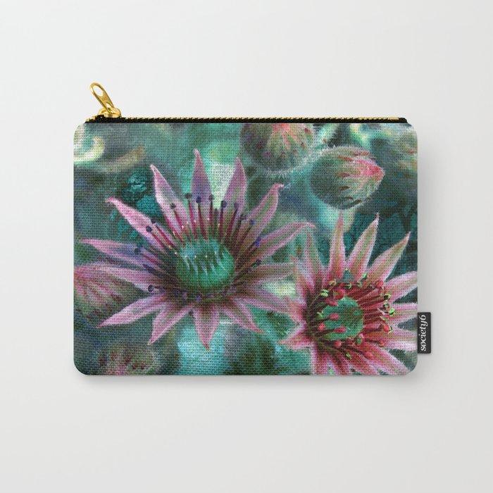 Succulents Flower Garden Carry-All Pouch