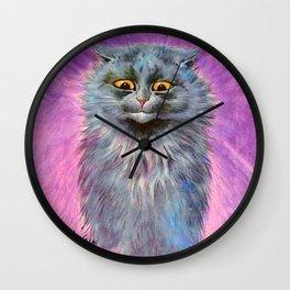 Russian Blue Cat - Louis Wain Cats Wall Clock