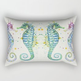 Guardians of the Sea - Natural Rectangular Pillow