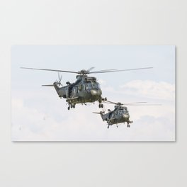 Roayl Navy Sea King team Canvas Print