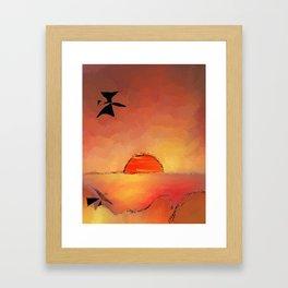 sun 1 Framed Art Print