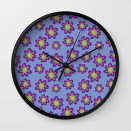 Funky Flowers Wall Clock