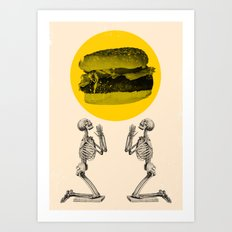 Hamburger Pray Art Print