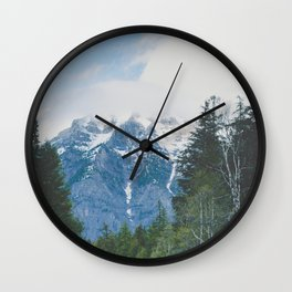 Glacier Roads Wall Clock