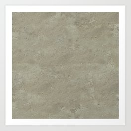 concrete texture monochrome warm grey Art Print