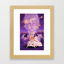 Lesbian Pirates From Outer Space in Fallen Gods Cover Framed Art Print