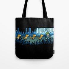 Pixel Jurassic World Tote Bag