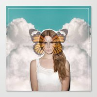 lana del rey Canvas Prints featuring Lana Del Fly by Wyatt Worker