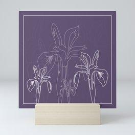 Baesic Purple Iris Mini Art Print