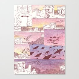 over head Canvas Print