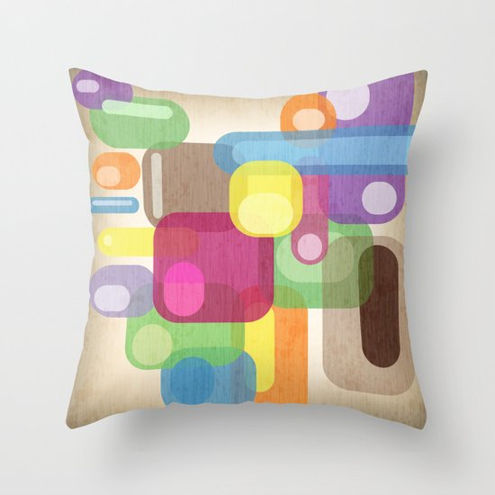 Retro Make'a Me Smile.  Throw Pillow