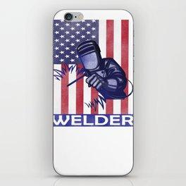 American Flag Welder Design Welding Image for Welders iPhone Skin