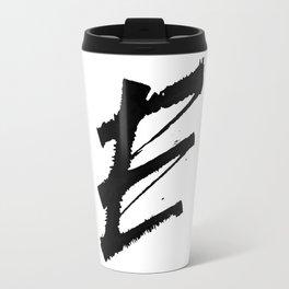 Letter E Ink Monogram Travel Mug