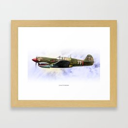Curtiss P-40 Warhawk Framed Art Print