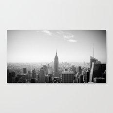 Manhattan - Empire State Building Panorama | B/W Canvas Print