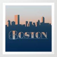 Boston Sunset Art Print