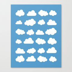 White clouds on a blue skies Canvas Print
