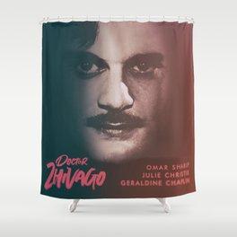 Doctor Zhivago, minimalist movie poster, David Lean film,Omar Sharif, Boris Pasternak, book cover Shower Curtain