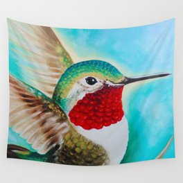 Happy Hummer Wall Tapestry