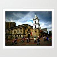 Life in Bogota Art Print